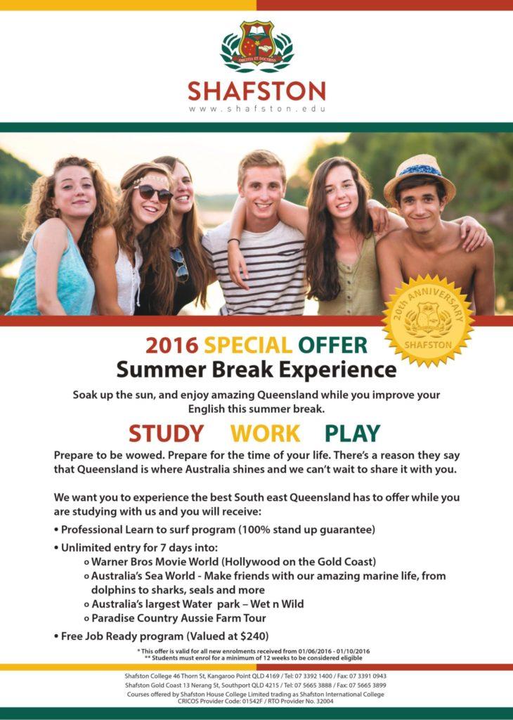 Scopri la Gold Coast e impara l'inglese. Fantastica offerta Shafston English School.