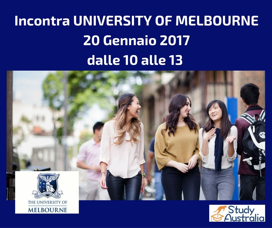 incontro University of Melbourne in Italia