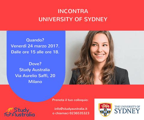 Incontra University of Sydney a Milano