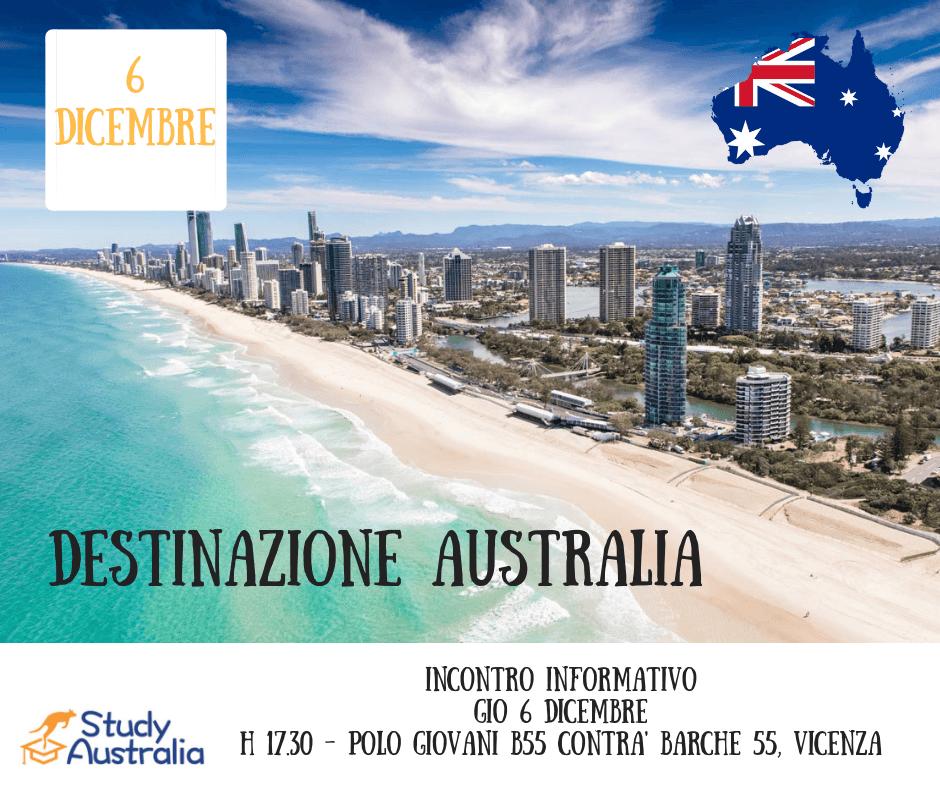 Incontro informativo a Vicenza: Destinazione Australia.