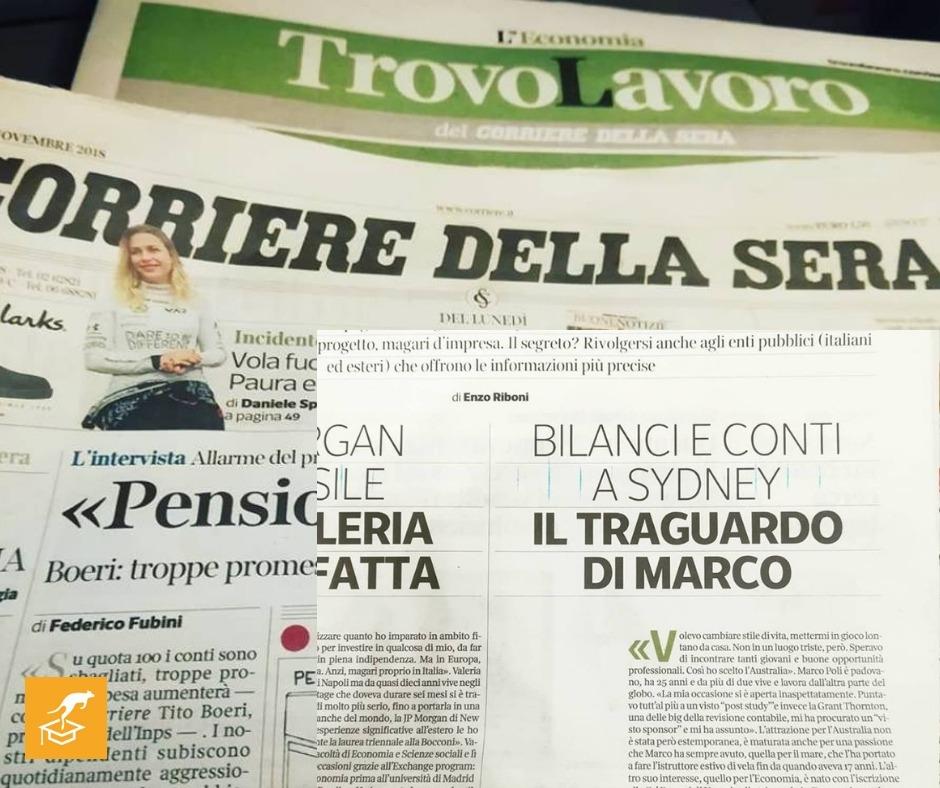 Italiani in Australia: la storia di Marco a Sydney raccontata dal Corriere della Sera